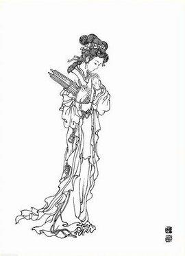 神话风格服装手绘