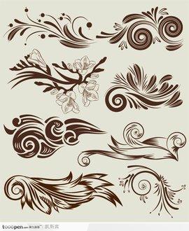 植物变形图案设计