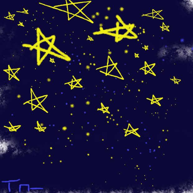 彩铅夜晚星空画法教程【相关词_彩铅星空画法】