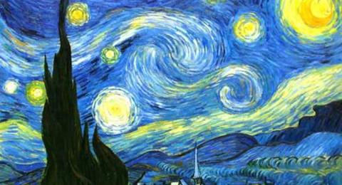 抽象画梵高星空
