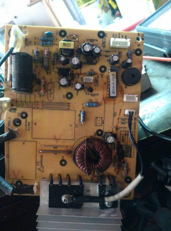 美的电磁炉c21-sk2105只报警不发热是什么原因?