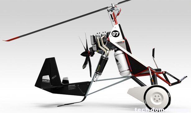旋翼靠飞机运动时激起气流转动,产生升力,使飞机失速时不会下坠,当时