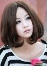 圆脸女初中生生适合什么发型(长短都行,长发什么刘海图片