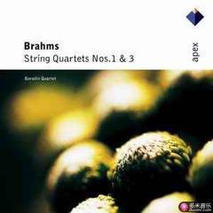 brahms : string quartets nos. 1 & 3