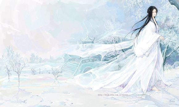古风白袍女子