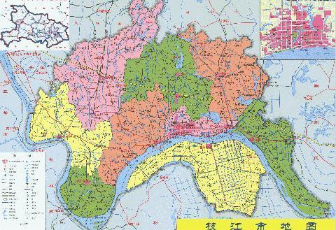 枝江行政区划图