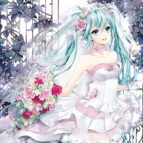 求动漫少女(好看)白色长裙或白色婚纱,【全身图片,如下图】