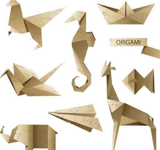 游戏和会动的折纸作品