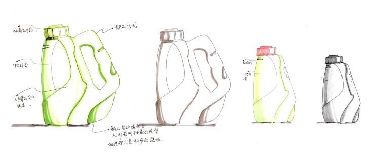 手绘瓶子-雪莱工业产品设计中心