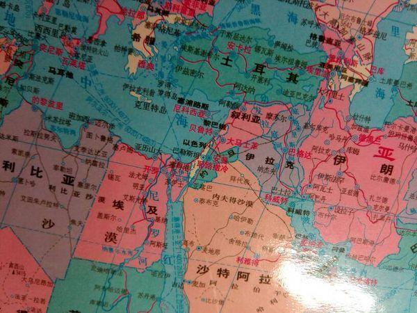 以色列在地图的哪个位置_360问答