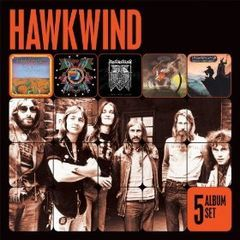 5 album set(hawkwind/in search of space/doremi fasol latido/hall of the mountain grill/masters of the universe)