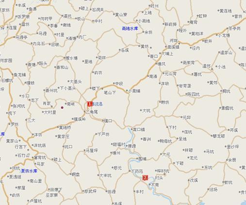 七星岩手绘地图