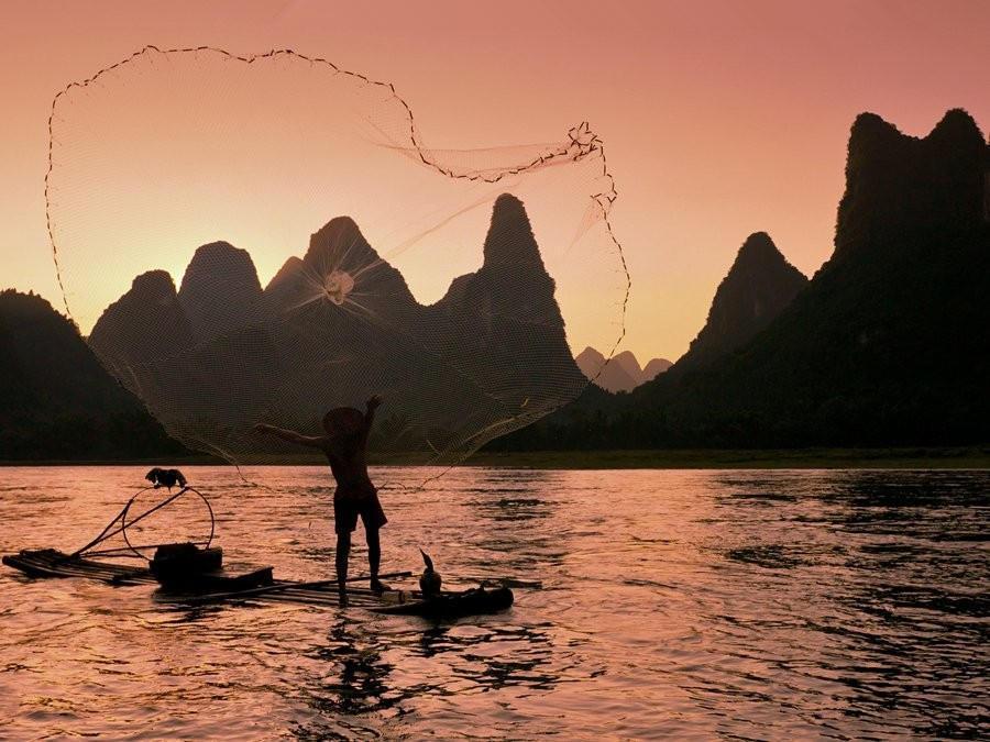 古法捕魚,千年絕技,美好回憶