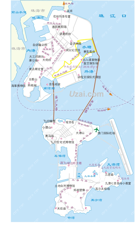 澳门的总面积因为沿岸填海造地而一直扩大