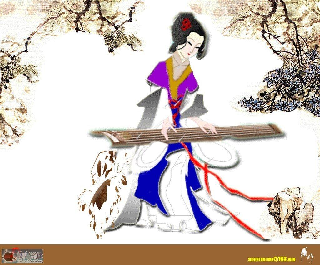 中国人物画中手的姿势与舞台上滇员手的动作姿势有一些共同之处,如
